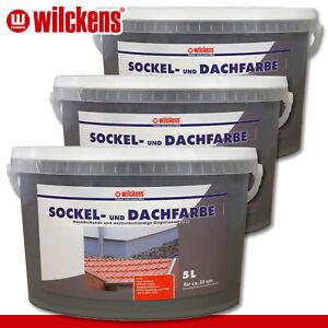 Wilckens 3 x 5 l Sockel- und Dachfarbe | Schiefer | Sockelfarbe Dachziegel außen