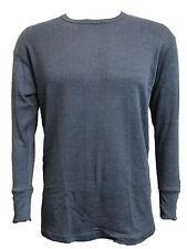 Hombre Térmico Ropa interior manga larga gris carbón Camiseta NUEVO PEQUEÑO