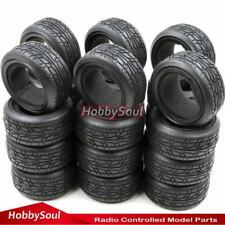 24pcs 1/10 on road Tires Soft Tyres Fit RC 1:10 Touring On Road Car wheels rims