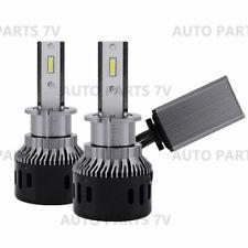 Pair H3 Car Truck LED Headlight Bulb Drive Fog Lamp Canbus Cool Fans 60W 6000K