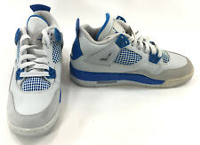 Nike Shoes Air Jordan 4 Retro White/Blue Sneakers Mismatch 5.5/5 Womens 7.5/7