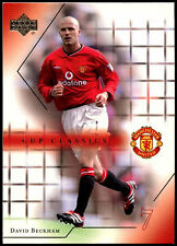 David BECKHAM Manchester United # 76 UPPER DECK 2001 CALCIO commercio CARD (C361)
