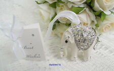 ~*~Lucky Elephant Wedding Good Luck Charm~*~Horseshoe~Keepsake~*~3D