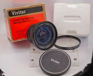 Vivitar 20mm F3.8 Canon FD Wide Angle Prime Lens SLR & Mirrorless Cameras *Read*