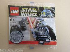 Muy Raro Lego Star Wars Darth Vader MINIFIGURA Bolsa De Polietileno Cromo Nuevo Sellado Promo