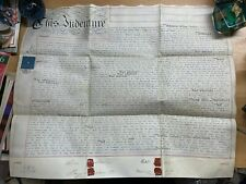HUGE 6 MARCH 1857 1-PAGE ASSIGNMENT VELLUM INDENTURE - SHAHAN (MIDDLESEX) (LL)