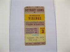 Sept 20,1971 Minnesota Vikings vs Detroit Lions Ticket Stub