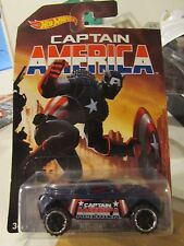 Hot Wheels Captain America RD-08 Walmart (Clear plastic cracked on front side)