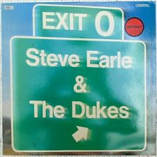 STEVE EARLE & THE DUKES - EXIT 0 1987 ALBUM LP VINILO