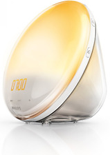 Philips HF3520/01 Wake-Up Light (Sonnenaufgangfunktion, digitales FM Radio, Tage