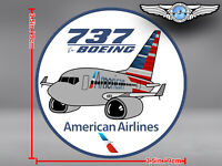 AMERICAN AIRLINES AA BOEING B737 B 737 PUDGY DECAL / STICKER