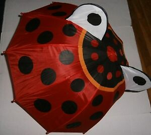 LADY BUG Umbrella for Kids  Fun 3-D Feature