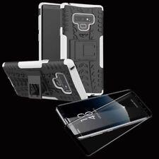 Hybrid Case Tasche 2teilig Weiß für Samsung Galaxy Note 9 N960 + 4D Glas Schwarz