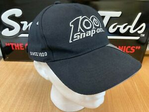Genuine Snap-On Tools Black 100 Years Embroidered Logo Baseball Cap Hat New