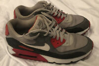 NIKE AIR MAX 90 MENS 2013 Retro (537384-011) Dusty Grey Running shoes Size 9.5