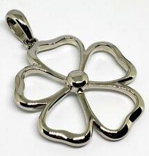"""Silver Pendent Slide - Retailed $72 Lia Sophia """"Daisy"""" Open Work Flower"""