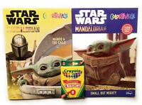 Star Wars Mandalorian Baby Yoda Coloring Activity Books with Crayons The Child