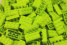 NEW LEGO Lime Green 2x4 Bricks Lot 100 Building Pieces 3001