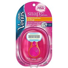 Gillette Venus Snap with Embrace Womens Razor with 1 Razor Refill
