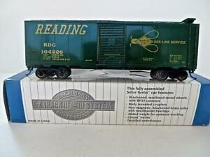 """HO Gauge NEW Bachmann Silver Series READING """"Bee Line"""" Boxcar  (B80EP)G"""