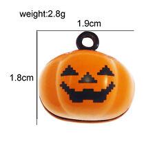 5pcs Orange Tone Alloy Pumpkin Shaped Pendants Charms Jewelry Findings 53561