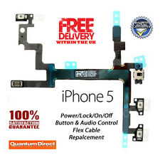 NEW On/Off Power/Lock Volume Mute/Silent Button/Switch Replacement FOR iPhone 5