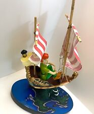 Disney Parks Peter Pan in Ship Light Up Large Figurine New