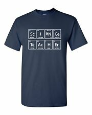 Science Teacher Elements Periodic Funny Humor Pun Men Adult Graphic T-Shirt
