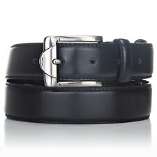 Brand New Men's High Quality Genuine Leather Adjustable Dress Belt - Black