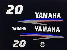 Yamaha Outboard Motor sticker Decal Kit 20 hp  - Marine Vinyl