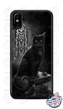 Halloween Salem Black Cat Witchcraft Magic Creepy Phone Case Cover for iPhone LG