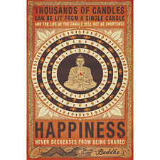 Buddha - Happiness Poster 61x91cm Thousands of Candles Be Lit From Single