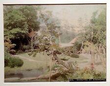 JAPAN Vintage Photo 19th century. Daibutsu at Kamakura. GRAND BOUDDHA. Aquarellé