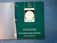 1998 WINDSTAR SUPPLEMENT SERVICE REPAIR AND ELECTRICAL VACUUM  UPDATE MANUAL