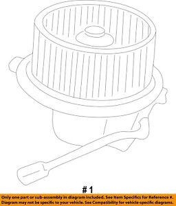CHRYSLER OEM-Blower Motor 4885326AA
