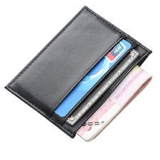 Men's Leather Slim Wallet Card Holder Front Pocket Wallets Credit ID Pocket Thin