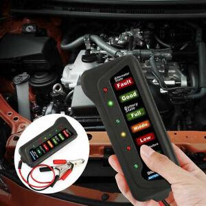 12V Car Digital Battery Load Tester 6 LEDs Alternator Vehicle Battery Analyzer R