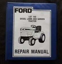 GENUINE 1987 FORD 14D DIESEL LAWN TRACTOR SERVICE REPAIR MANUAL W/BINDER NICE 1