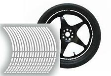 NEW wheel rim tape striping stripes stickers White..(36 pieces/8 per wheel)