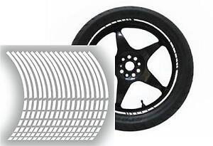 NEW wheel rim tape striping stripes stickers White..(36 pieces/8 per wheel)