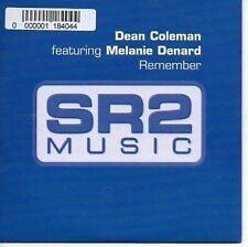 (AR308) Dean Coleman, Remember ft Melanie D- 2005 DJ CD