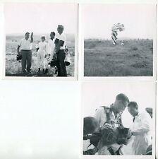 1950s Sky Diving - Original Photos # 17 - 3 Small Photos