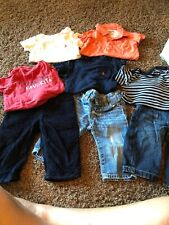 Baby Gap Boys Lot 3 Pants 5 Shirts size 6-12 months