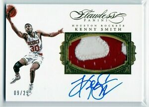 Kenny Smith Houston Rockets UNC Panini Flawless Game-Used Jersey Patch AUTO /25