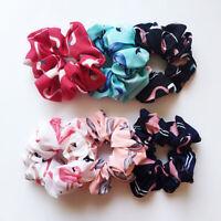 Flamingo Print Hair Accessories Hair Tie Scrunchies Ponytail Hair Holder Rope #E