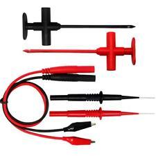 AideTek Test Clip Insulation Piercing set Needle Tipped tip 4mm Socket Probe
