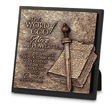 Word of God Inspirational Cast Stone Plaque 5-3/4 x 5-3/4 inches