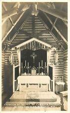 Interior, St Camillus Novitiate Chapel, Durward's Glen, Baraboo, Wisconsin RPPC