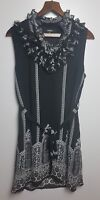 Stella Ladies Black /White Pattern Sleeveless Fully Lined Summer Dress Size XL