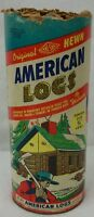 Vintage Halsam Hewn American Logs USA Toy Play Set